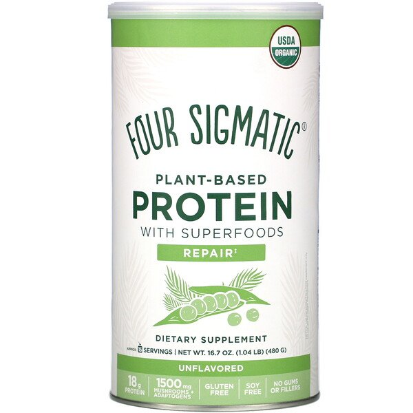 Plant-Based Protein with Superfoods, Unflavored, 16.7 oz (480 g)