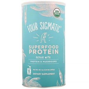 Four Sigmatic, Superfood Protein, Repair with Protein & Mushrooms, 16.7 oz (480 g)