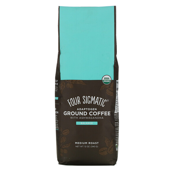 Adaptogen Ground Coffee with Ashwagandha, Medium Roast, 12 oz (340 g)