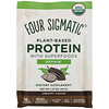 Four Sigmatic, Plant-Based Protein with Superfoods, Creamy Cacao, 10 Packets, 1.41 oz (40 g)