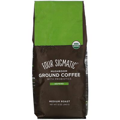 Купить Four Sigmatic Mushroom Ground Coffee with Probiotics, Medium Roast, 12 oz (340 g)