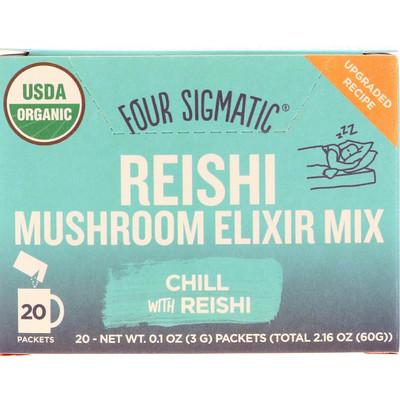 Напиток из грибов рейши и травами, 20 пакетиков, 0,1 унции (3 г) каждый