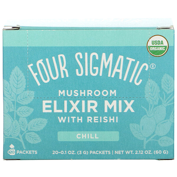 Mushroom Elixir Mix with Reishi, 20 Packets, 0.1 oz (3 g) Each