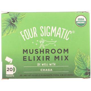 Four Sigmatic, Chaga, Mushroom Elixir Mix, 20 Packets, 0.1 oz (3 g) Each