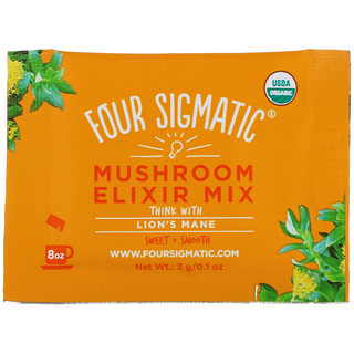 Four Sigmatic, Lion's Mane, Mushroom Elixir Mix, 20 Packets, 0.1 oz (3 g) Each