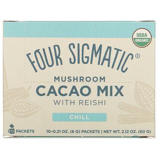 Four Sigmatic, Mezcla de hongos y cacao con reishi, 10sobres, 6g (0,21oz) cada uno