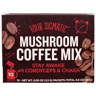 Four Sigmatic, Грибной кофе с кордицепсом, 10 пакетов, в каждом 2,5 г (0,09 унции)