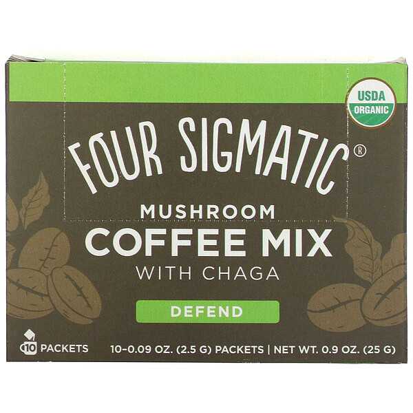 Mushroom Coffee Mix with Chaga, 10 Packets, 0.09 oz (2.5 g) Each