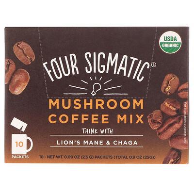Купить Mushroom Coffee Mix, Fruity + Medium, 10 Packets, 0.09 oz (2.5 g) Each