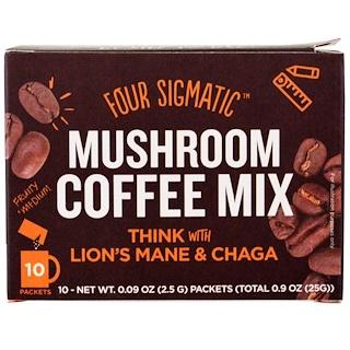 Four Sigmatic, マッシュルームコーヒー ヤマブシタケ入り, 10袋, 各0.09 oz (2.5 g)