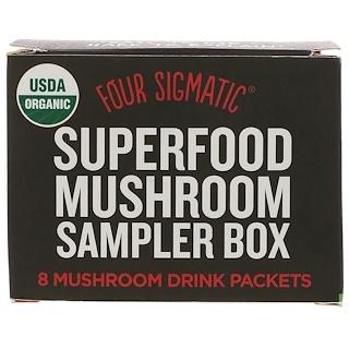 Four Sigmatic, スーパーフード・マッシュルームサンプラーボックス、マッシュルームドリンク8パック
