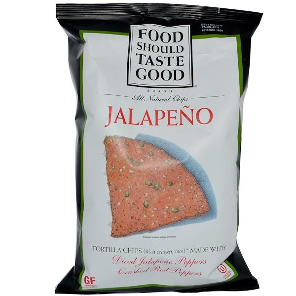 Food Should Taste Good, Натуральные чипсы, халапеньо 6 унции (170 г) (Discontinued Item)