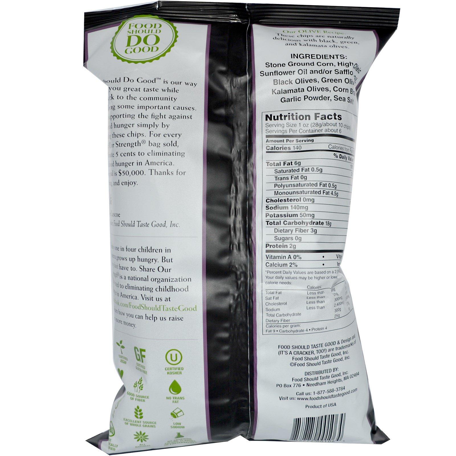 Food Should Taste Good, All Natural Chips, Olive, 6 oz (170 g ...