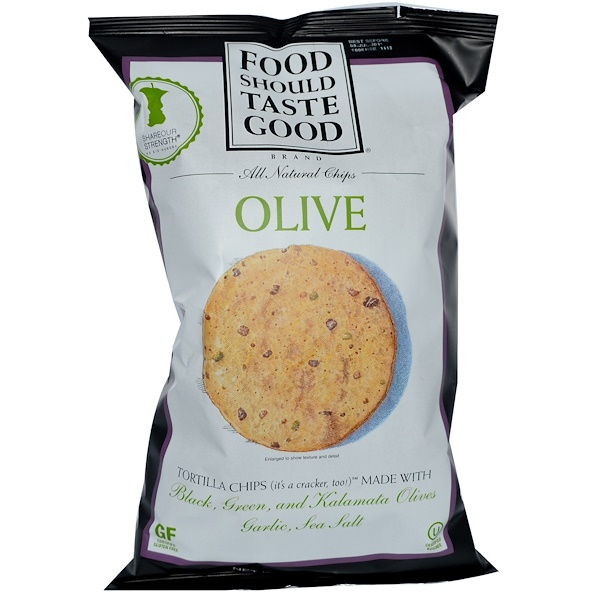 Food Should Taste Good, All Natural Chips, Olive, 6 oz (170 g) (Discontinued Item)