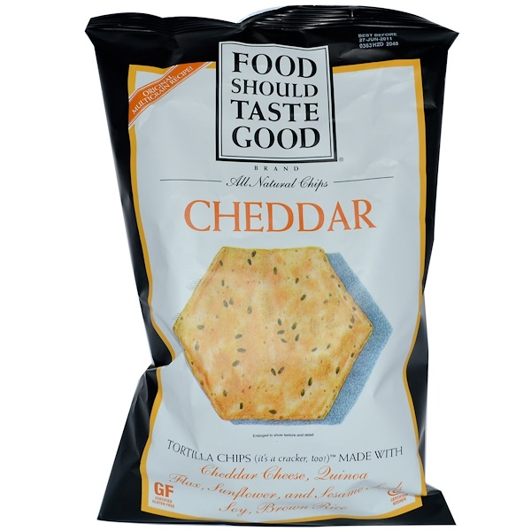 Food Should Taste Good, All Natural Chips, Cheddar, 5.5 oz (156 g) (Discontinued Item)