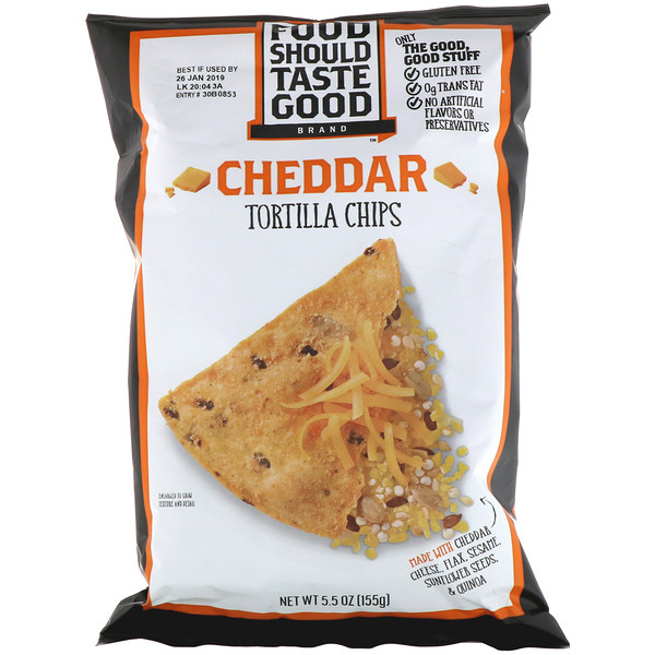 Food Should Taste Good, Nachos de Tortilla todo natural, sabor cheddar, 5.5 oz (156 g) (Discontinued Item)