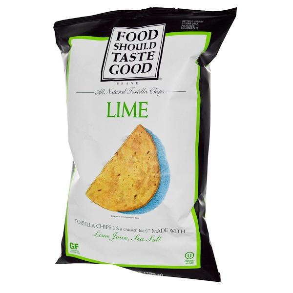 Food Should Taste Good, All Natural Tortilla Chips, Lime, 5.5 oz (156 g) (Discontinued Item)