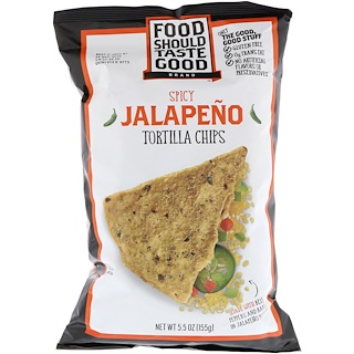 Food Should Taste Good, Чипсы тортилла, пряный халапеньо, 5,5 унц. (155 г)