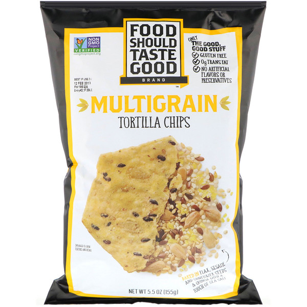 Food Should Taste Good, Multigrain Tortilla Chips, 5.5 oz (155 g) (Discontinued Item)