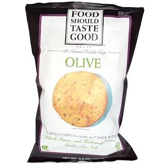 Food Should Taste Good, All Natural Tortilla Chips, Olive, 5.5 oz (156 g)
