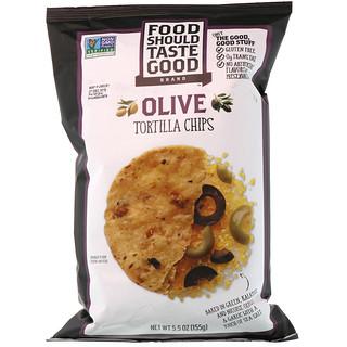 Food Should Taste Good, Tortilla Chips, Olive, 5.5 oz (155 g)