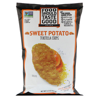Food Should Taste Good, Tortilla Chips, Sweet Potato, 5.5 oz (155 g)