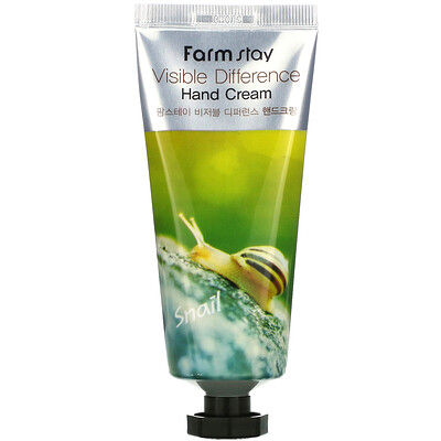 Farmstay Visible Difference Hand Cream, Snail, 100 g