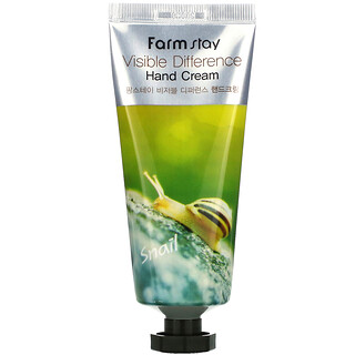 Farmstay, Visible Difference Hand Cream, Snail,  100 g