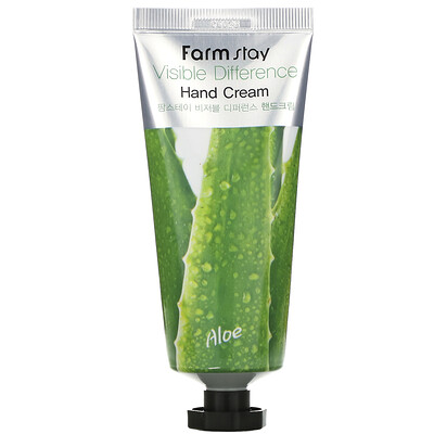 Farmstay Visible Difference Hand Cream, Aloe, 100 g