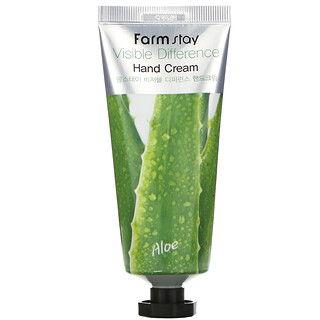 Farmstay, Visible Difference Hand Cream, Aloe, 100 g
