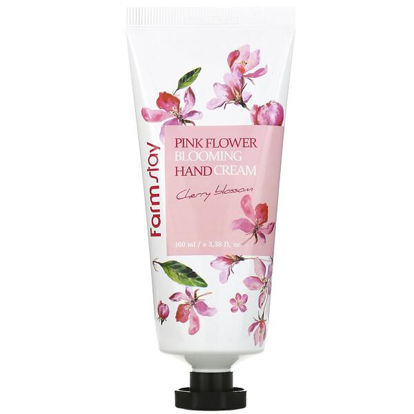 Pink Flower Blooming Hand Cream, Cherry Blossom,  3.38 fl oz (100 ml)