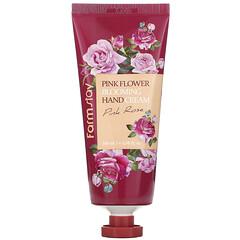 Farmstay, 粉花盛開護手霜,粉玫瑰,3.38 液量盎司(100 毫升)