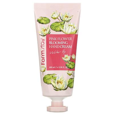 Купить Farmstay Pink Flower Blooming Hand Cream, Water Lily, 3.38 fl oz (100 ml)
