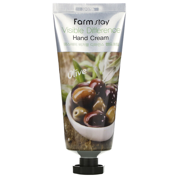 Farmstay, Visible Difference Hand Cream, Olive, 100 g