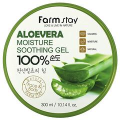 Farmstay, 蘆薈全保濕舒緩凝膠,10.14 液量盎司(300 毫升)