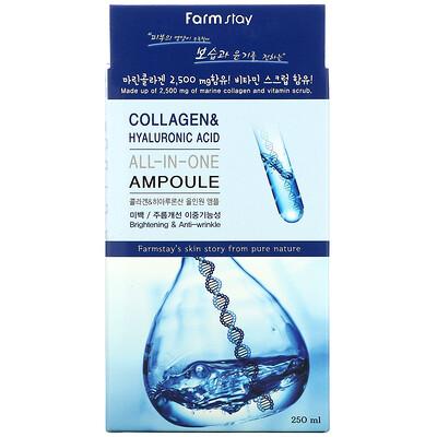 Farmstay Collagen & Hyaluronic Acid, All-In-One Ampoule, 8.45 fl oz (250 ml)