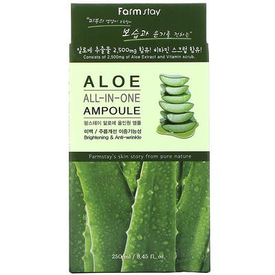 Купить Farm Stay All-In-One Ampoule, Aloe, 8.45 fl oz (250 ml)