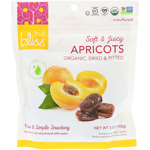 Fruit Bliss, Organic, Dried & Pitted Apricots, 5 oz (142 g) отзывы