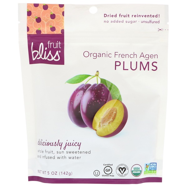 Fruit Bliss, 有機法國阿讓李子,5盎司(142克)