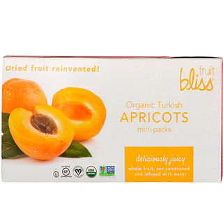 Fruit Bliss, Organic Turkish Apricots, 12 Mini-Packs, 1.76 oz (50 g) Each