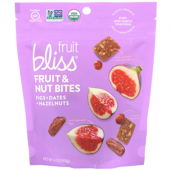 Fruit & Nut Bites, Figs + Dates + Hazelnuts, 4 oz (113 g)