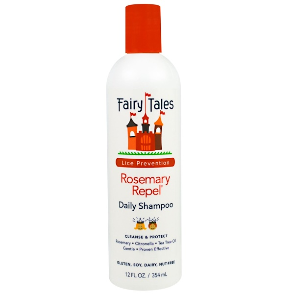 Fairy Tales, Rosemary Repel Daily Shampoo, Lice Prevention, 12 fl oz (354 ml) (Discontinued Item)