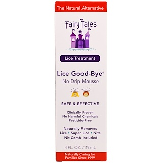 Fairy Tales, Lice Treatment, Lice Good-Bye, No-Drip Mousse, 4 fl oz (119 ml)