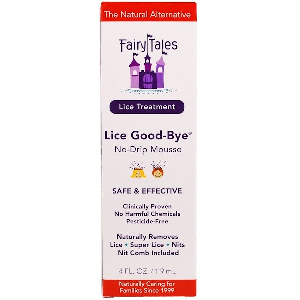 Fairy Tales, Lice Treatment, Lice Good-Bye, No-Drip Mousse, 4 fl oz (119 ml) (Discontinued Item)
