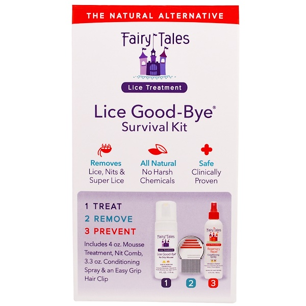 Fairy Tales, Lice Good-Bye Survival Kit, 3 Piece Kit (Discontinued Item)