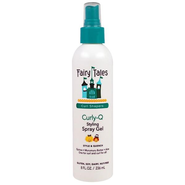 Fairy Tales, Styling Spray Gel, Curly-Q Curl Shapers, 8 fl oz (236 ml) (Discontinued Item)
