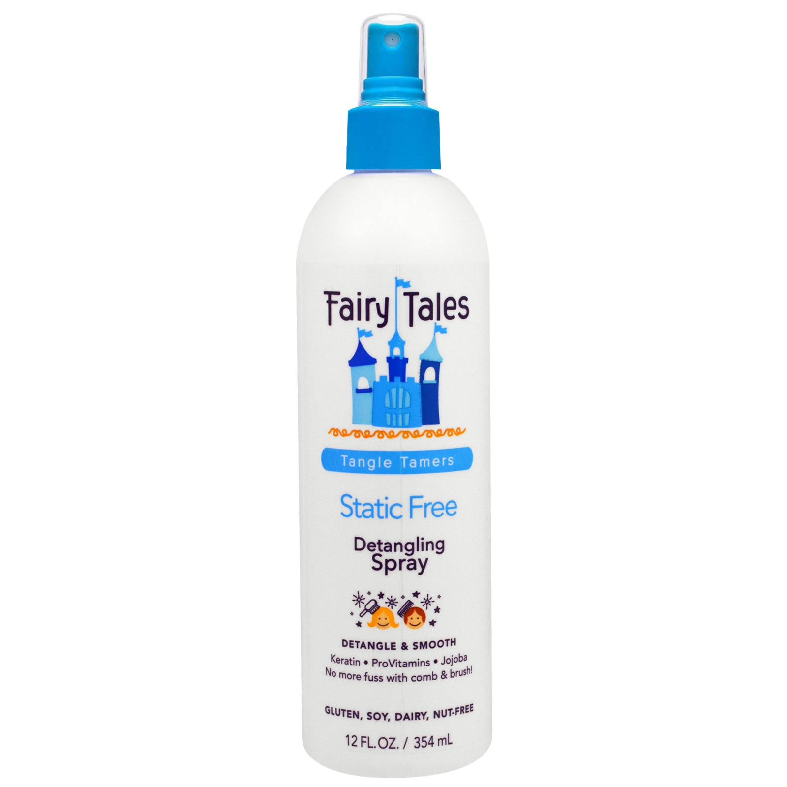 """Fairy Tales, """"Укротители запутанного"""", антистатический спрей, облегчающий расчесывание волос, 12 жидких унций (354 мл)"""
