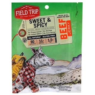 Field Trip Jerky, Beef Jerky, Sweet & Spicy, 2.2 oz (62 g)