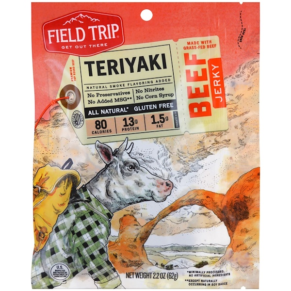 Field Trip Jerky, 牛肉乾,照燒,2、2盎司(62克)