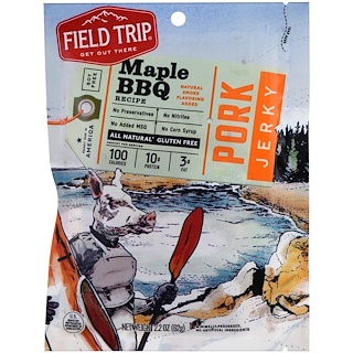 Field Trip Jerky, Pork Jerky, Maple BBQ, 2.2 oz (62 g)